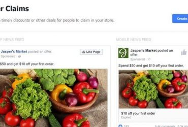 Grab attention with a deal or discount on Facebook